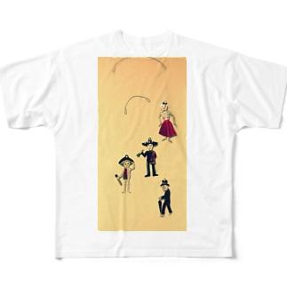 ホネホネロック(メキシカンスカル) Full graphic T-shirts