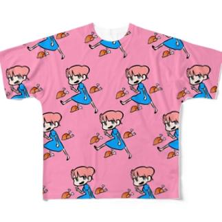 いえー Full graphic T-shirts