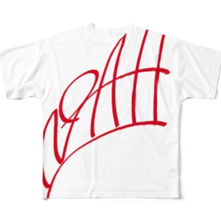 ism的ノアさん(ボツ)デザインred Full graphic T-shirts
