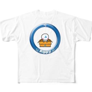 りっぴぃくんダンボールバージョン フルグラフィックTシャツ