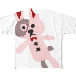 ツギハギうさぎ【一ノ瀬彩】 Full graphic T-shirts