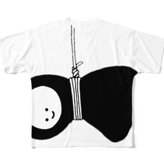 ちいぽん 吊られ Full graphic T-shirts