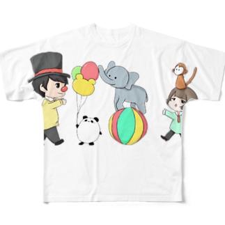 だぁ兄withりさ丸 Full graphic T-shirts
