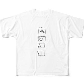 とり Full graphic T-shirts