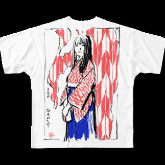 志月かなでグッズショップの志月かなで Full graphic T-shirts