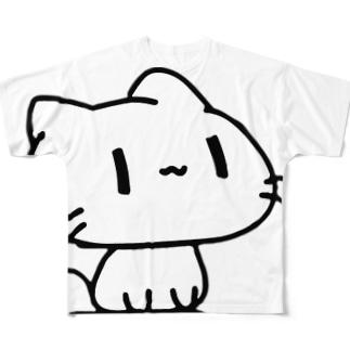 どどねこ-おすわり- Full graphic T-shirts