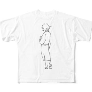 後姿は未知の国 Full graphic T-shirts