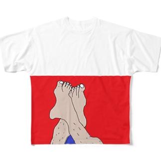 すね毛もアート Full graphic T-shirts