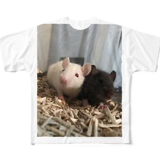 我が家のネズミ Full graphic T-shirts