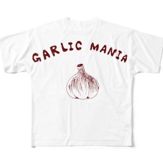 ニンニクマニア Full graphic T-shirts