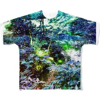 神秘の森 フルグラフィックTシャツ