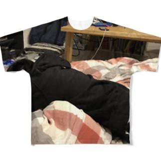 睡眠Superman(創業者) Full graphic T-shirts