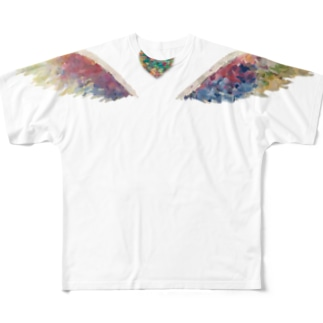 天使の羽 フルグラフィックTシャツ