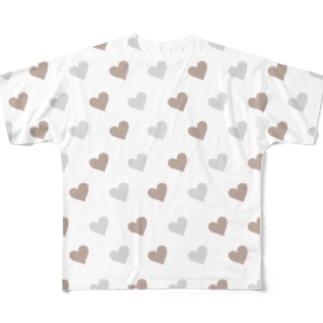 ハート Full graphic T-shirts
