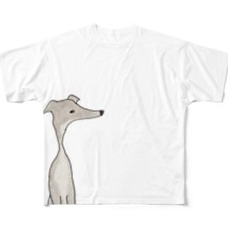 グレイハウンドのグレイ Full graphic T-shirts