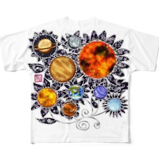 「花籠」Series * planetflower Full graphic T-shirts