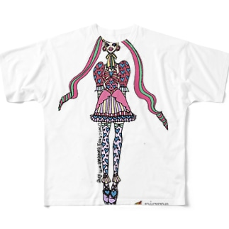 甘ロリヴィヴィ子 フルグラフィックTシャツ