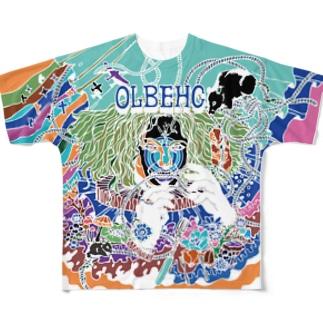 OLBEHC【Nega】 フルグラフィックTシャツ