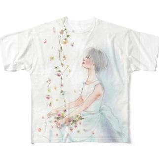 花日和 フルグラフィックTシャツ