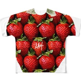 いちごだいすき フルグラフィックTシャツ