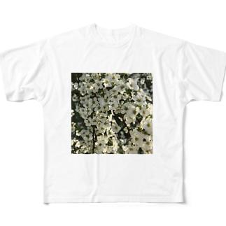 雪柳の大群。 Full graphic T-shirts