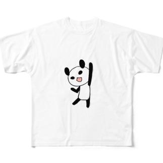 やる気に満ちたパンダ フルグラフィックTシャツ