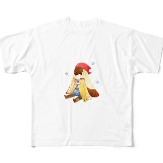 おすわり フルグラフィックTシャツ