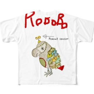 ROBOBO 福ちゃんロボ ロゴ入り③ Full graphic T-shirts