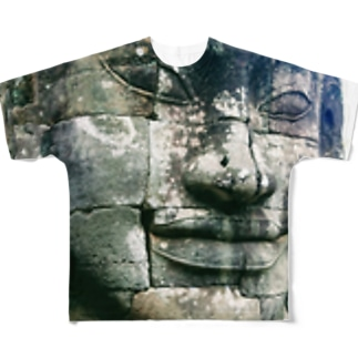 face color Full graphic T-shirts