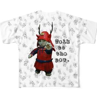 うじゃうじゃ甲冑猫 Full graphic T-shirts