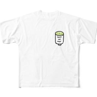 湯のみ Full graphic T-shirts