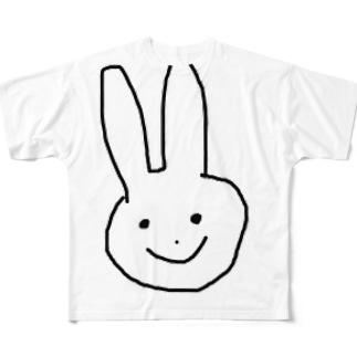 ウサギ Full graphic T-shirts