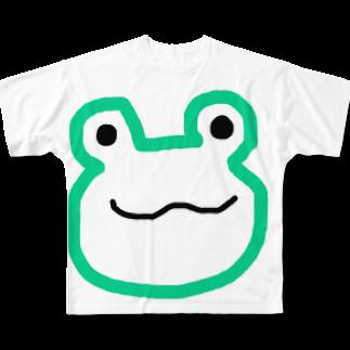 ke3510のカエル Full graphic T-shirts