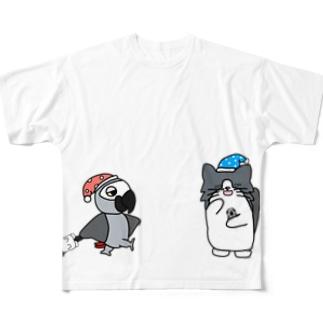 みーニャンと福ニャン Full graphic T-shirts