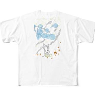 とばされた傘 Full graphic T-shirts