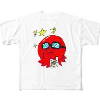 タコでも天才 フルグラフィックTシャツ