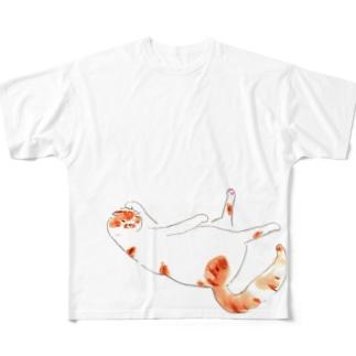 ぺろねこさん フルグラフィックTシャツ