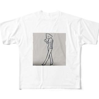 女の子 フルグラフィックTシャツ