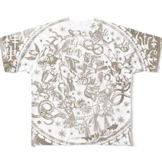 星巡る 星絵図 Full graphic T-shirts