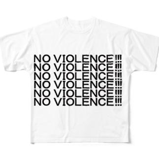 NO VIOLENCE!!! Full graphic T-shirts