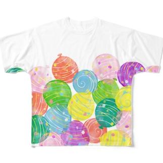みずふうせん Full graphic T-shirts