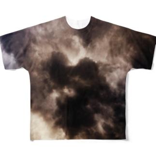 黒煙 Full graphic T-shirts