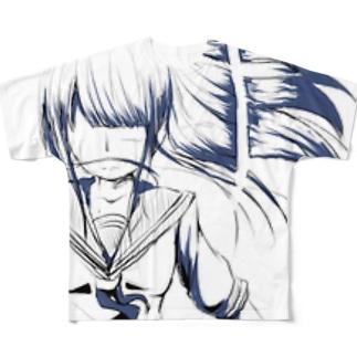 断髪 Full graphic T-shirts
