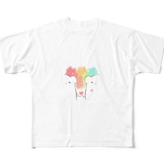 KUMA フルグラフィックTシャツ