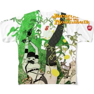 ジャクリーヌちゃんと豆蔓 Full graphic T-shirts