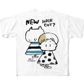 (わーくわくシリーズ)hair dresserさん Full graphic T-shirts