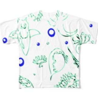 プランクトンちゃん Full graphic T-shirts