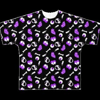 悪天🦄✨のいきものごろごろ フルグラフィックTシャツ