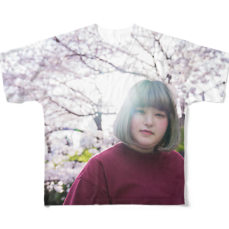 ミノリストアのyurina&Cherry blossom Full graphic T-shirts