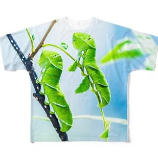 芋虫 フルグラフィックTシャツ